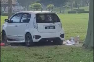 Flying car in 2021 achieved! This is proof that Perodua Myvi can fly!