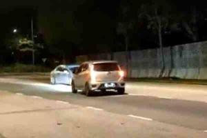 Anggota polis trafik ditangkap memandu lawan arus dalam keadaan mabuk