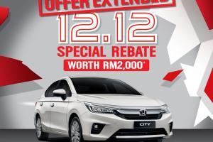 Promosi Honda City '12.12 Special Sales' dilanjutkan sehingga 31 Disember 2020!