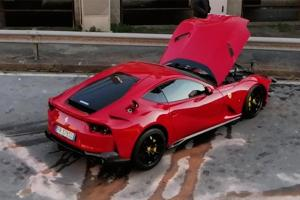 That'll buff out - Italian keeper's Ferrari 812 Superfast destroyed while being sent for wash