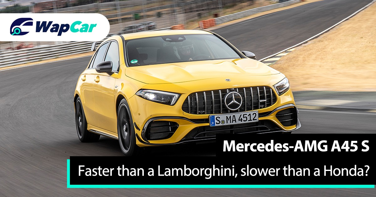 Mercedes-AMG A45 S is faster than a Lamborghini on the Nurburgring, but slower than a Honda Civic? 01