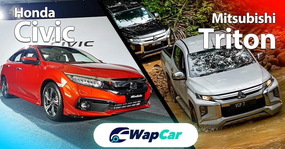 Honda Civic vs Mitsubishi Triton – Which is easier to clear a tight U-turn? 01