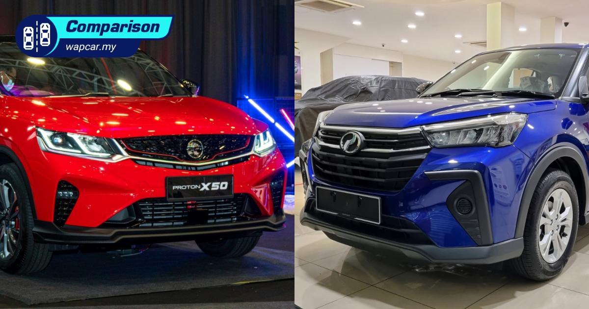 2021 Perodua Ativa 1.0 AV vs Proton X50 1.5T Standard – Do you need a bigger car? 01