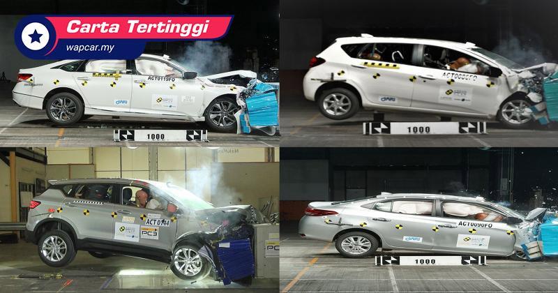 Carta Tertinggi: Kereta paling selamat berdasarkan markah ASEAN NCAP 01