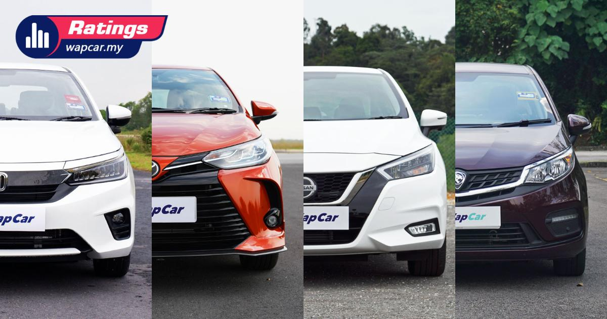 Ratings: Which is the most spacious? Vios, City, Almera, or Persona? 01