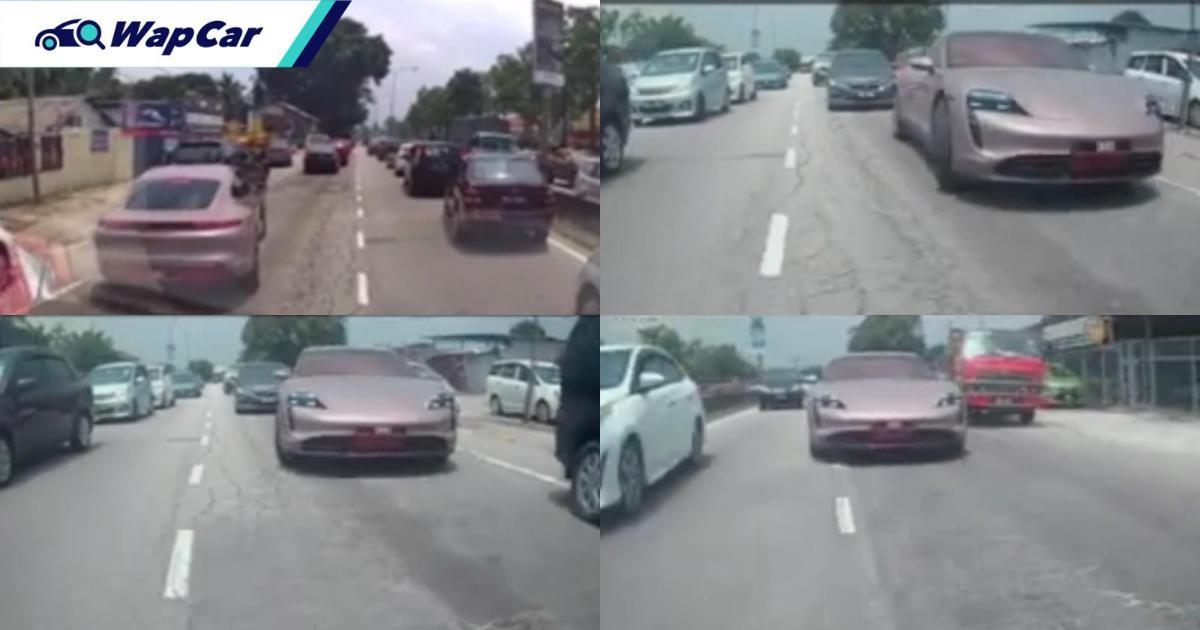 Watch: Ambulance taken advantage by Porsche Taycan 01
