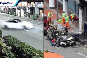 Video baru BMW M4 kemalangan di Tanjong Pagar tular, wanita nekad berlari ke dalam api