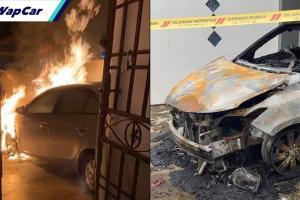 Toyota Vios dibakar atas ugutan, mangsa tiada kaitan hutang along
