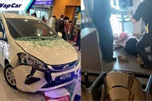 Video: Perodua Myvi rempuh Tesco Puchong akibat tertekan pedal, pekerja cedera