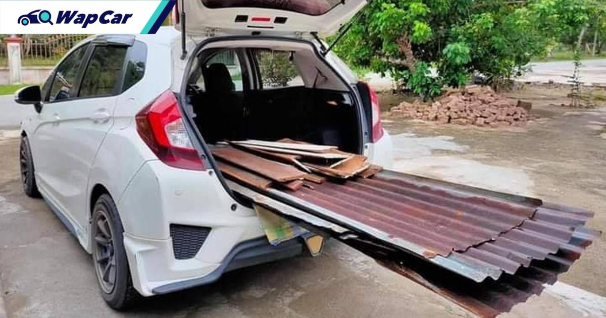 This is how useful the Honda Jazz's Ultra Seats are! Myvi what? 01