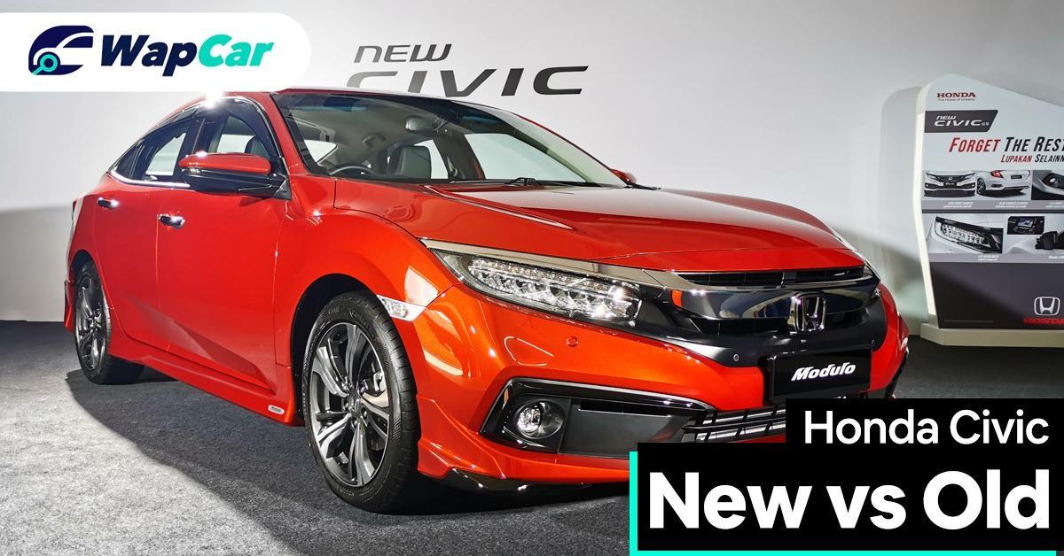 2020 Honda Civic Facelift new vs old