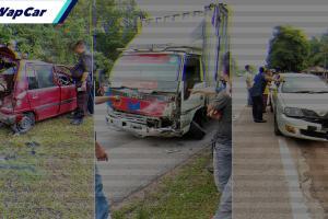 Perodua kancil mengelak Proton Waja sampai melambung 100 meter akibat dilanggar lori - salah siapa?
