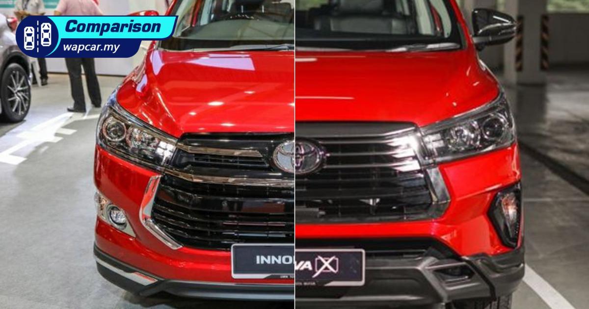 New vs Old – 2021 Toyota Innova facelift vs pre-facelift 01