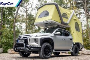Mitsubishi Triton tampil sebagai pikap 'camper', tak payah ubah suai Myvi dah!