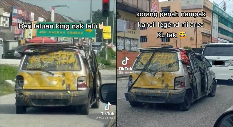 He's back with yet another thrashed-up Perodua Kancil! Where does he keep getting them? 02