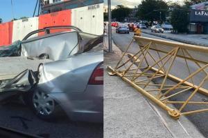Proton Saga dihempap konkrit, Perodua Myvi dihempap besi kren!