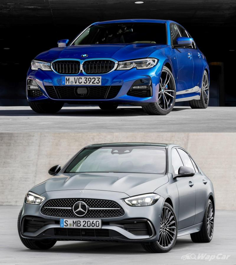 W206 Mercedes-Benz C-Class is bigger than G20 BMW 3 Series; cast your votes 02