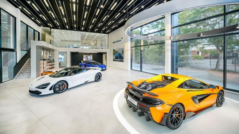 McLaren Glenmarie showroom interior