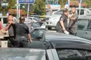 Watch: Man deploys cleaver knife to threaten another man after rear-end incident