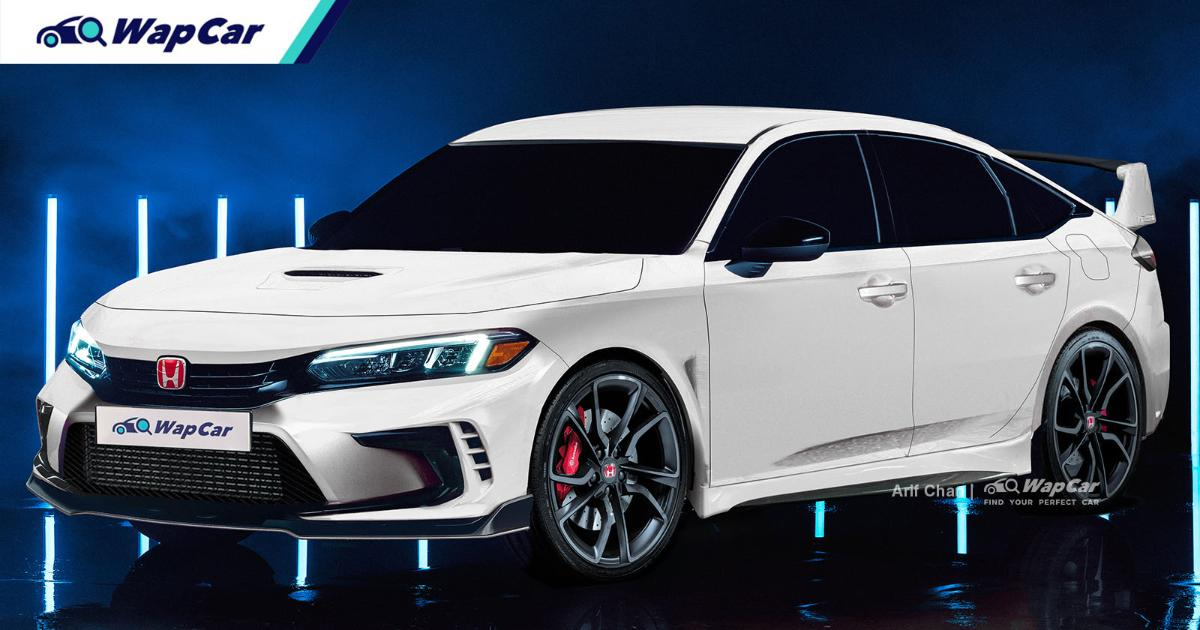 Rendered: 2022 Honda Civic Type R - The king of front-wheel drive? 01