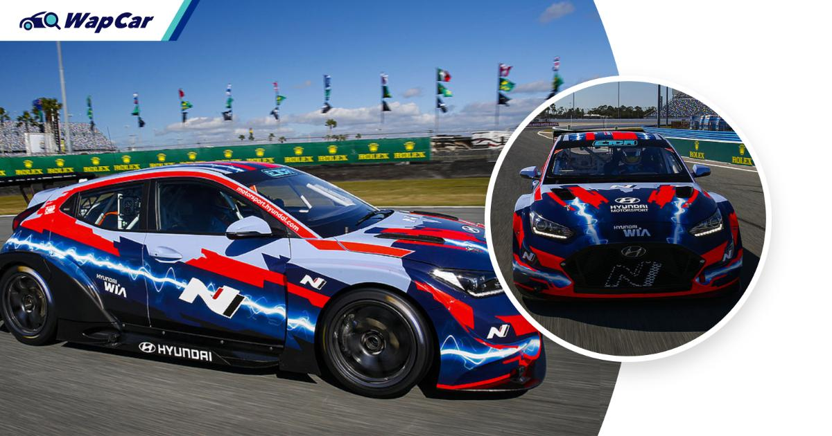 Hyundai goes racing with hydrogen fuel cell Hyundai Veloster N 01