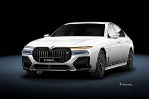 Rendered: 2022 BMW 7 Series - Did someone order more grille?