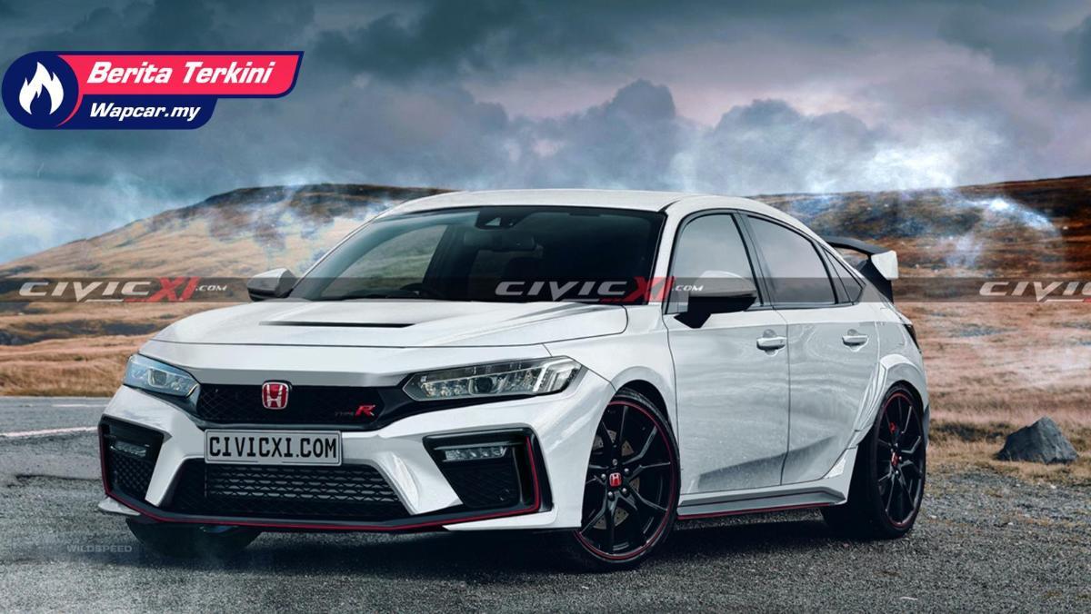 2022 Honda Civic Type R hadir dengan imej 'render'. Kekal sporty? 01