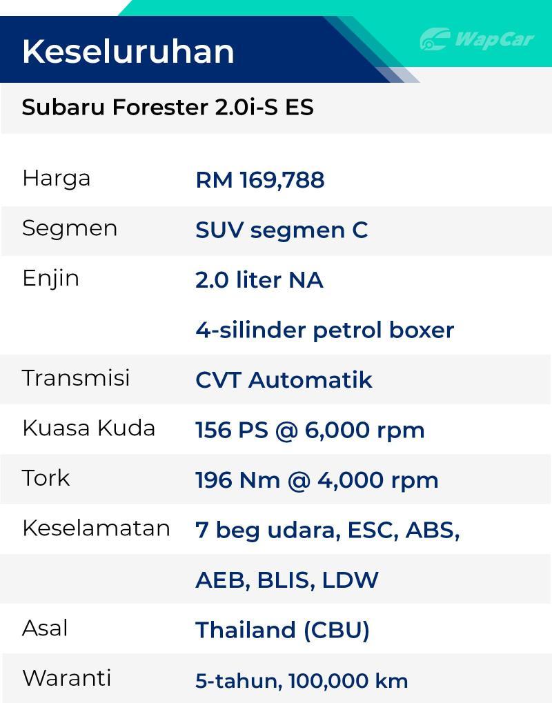 Rebiu: Subaru Forester 2.0i-S ES, kualiti yang sukar digambarkan? 02