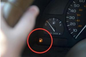Boleh jahanam fuel pump kalau pandu sampai lampu minyak menyala!