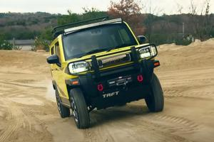 The D55L's lil brother, the Daihatsu Taft flexes its taft-ness with some off-roading gear