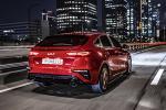 Kia K3 GT hatchback shows off its sporty looks against Seoul's night sky