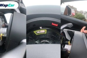 This Tesla Model 3's steering wheel fell off completely when the owner was still driving!