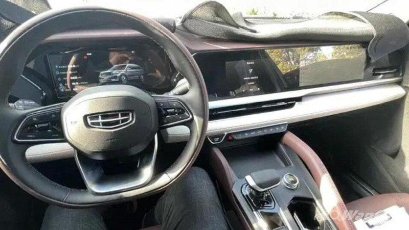 Geely KX11 new flagship SUV will get a passenger display screen like a Porsche Taycan! 02