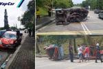 Perodua Myvi 'meroket' langgar van Nissan Vanette & Proton Waja sampai hancur, tewas di tangan polis