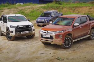 Mitsubishi Triton vs Toyota Hilux vs Isuzu D-Max – pertarungan trak pikap 'urban'