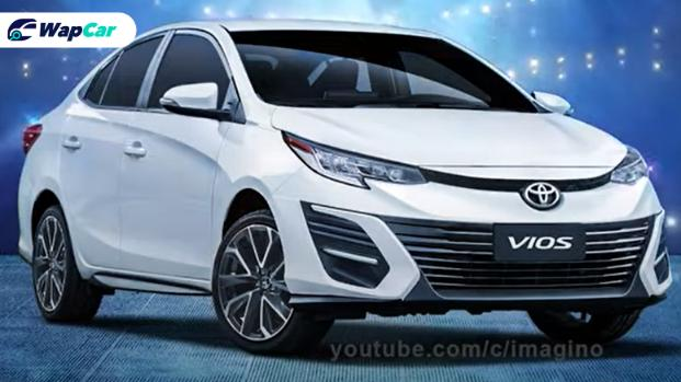 Rendered: Toyota Vios facelift looks like a baby Camry 01