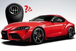 Is that a manual Supra? Toyota Supra might come with a manual transmission