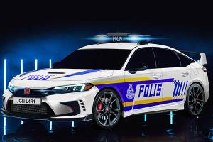 Rendered: 2022 Honda Civic Prototype imagined as Malaysian Police Car