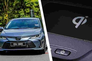 Toyota Corolla Altis's segment-first wireless charger - what phones does it support?