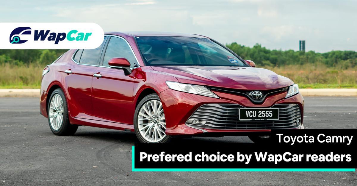 WapCar readers prefers the Toyota Camry 2.5V over other D-segment sedans 01