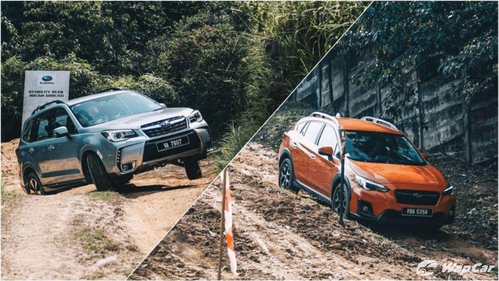 2019 Subaru Forester and Subaru XV off-road