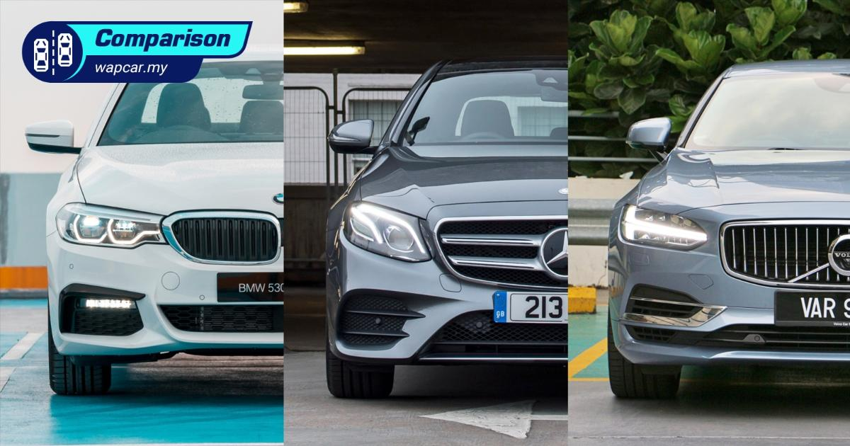 BMW 5 Series vs Mercedes-Benz E-Class vs Volvo S90, which is the better buy? 01