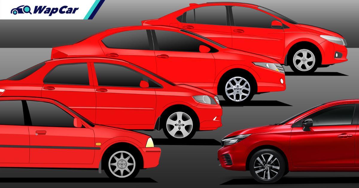 Model Panas - Evolusi 5 generasi Honda City di Malaysia 01