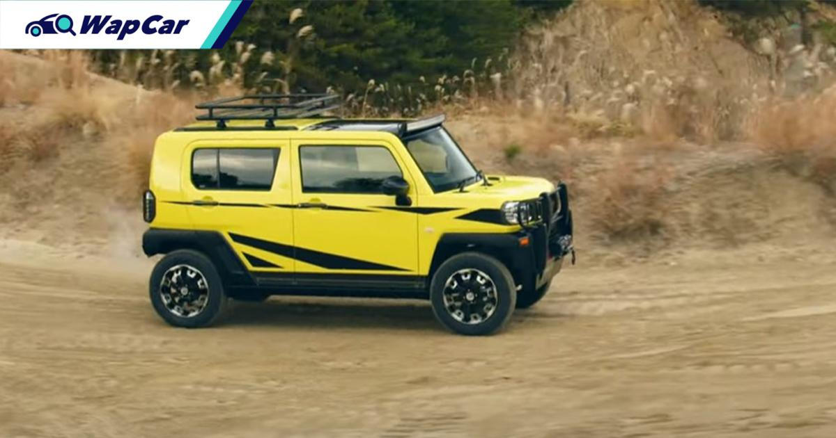 The D55L's lil brother, the Daihatsu Taft flexes its taft-ness with some off-roading gear 01