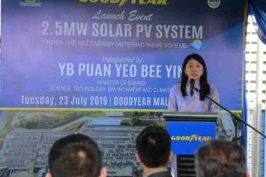 Goodyear's Shah Alam plant is now powered by 2.5 MW solar panels