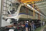 Looking sleek! New LRT 3 Bandar Utama-Klang train arrives in Perak for fitting