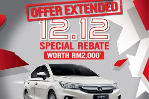 Honda extends 12.12 City sale until 31-Dec!
