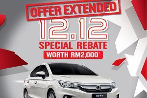 Honda extends 12.12 City sale until 31-Dec!