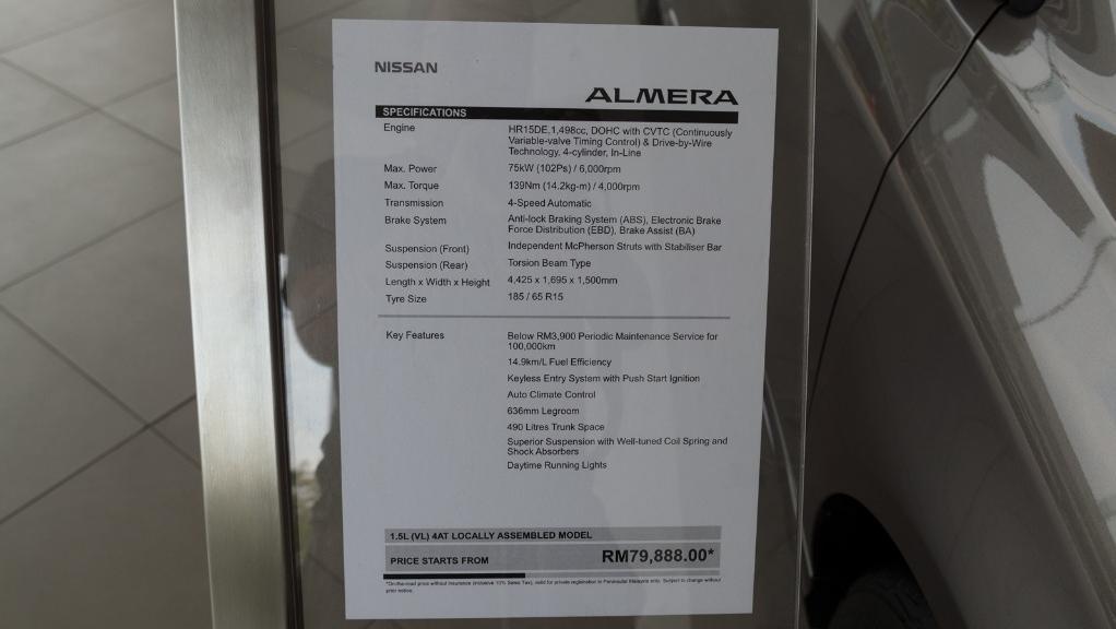 2018 Nissan Almera 1.5L VL AT Others 012