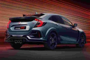 Honda Civic Type R Sport Line deletes the ridiculous rear spoiler and red seats